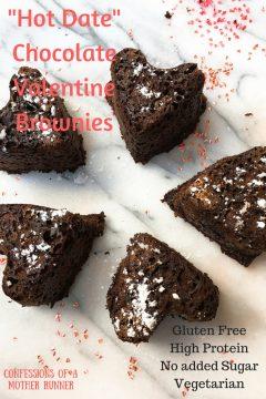 Hot date chocolate Valentine brownies