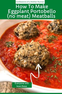 how to make eggplant portobello meatballs