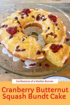 Cranberry butternut squash bundt cake