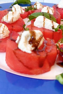 whipped feta and watermelon