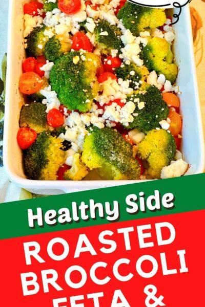 roasted broccoli feta and tomatoes
