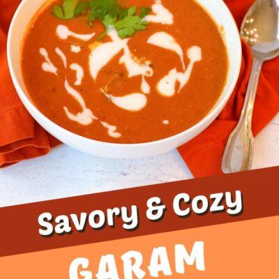 Garam Masala Roasted Tomato & Cauliflower Soup